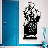 ASFGA Michael Jordan Etiqueta de la Pared Vinilo DIY Decoración del hogar Jugador de Baloncesto Apli...