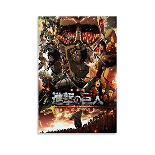 Attack on Titan Compilation - Poster su tela, per soggiorno, camera da letto, 20 x 30 cm