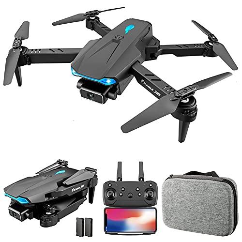 Montloxs S89 RC Drone con Fotocamera 4K WiFi FPV Drone Mini Quadricottero Pieghevole Giocattolo per Bambini con Controllo del sensore di gravità modalità Senza Testa Gesto Foto Funzione Video