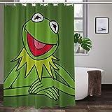 Kermit The Frog bunter Duschvorhang für Badezimmer, Polyester-Stoff, mit Haken, 152,4 x 182,9 cm (B x H)