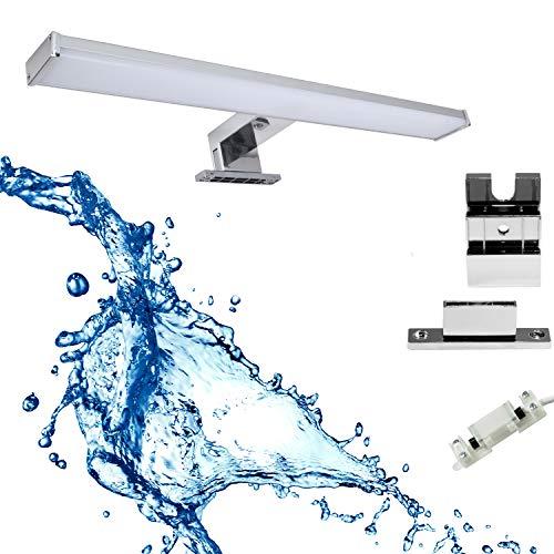 Lámpara de espejo LED 3 en 1 para baño, 60 cm, 12 W, 960 lm, 4000 K, 230 V, resistente al agua IP44, luz blanca neutra, lámpara de baño, lámpara de maquillaje, lámpara de armario, lámpara de montaje