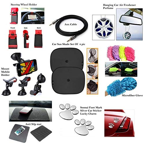 Vocado® Car Combo Kit for Mahindra Logan (Set of 11, Multicolour)