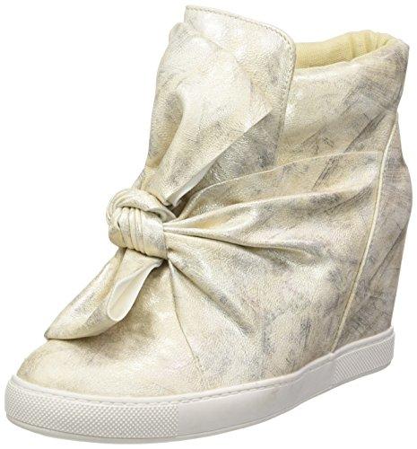 Angkorly - Damen Schuhe Sneakers - Turnschuhe keil - Fliege - Glänzende Keilabsatz 9 cm - Gold 88-115 T 38