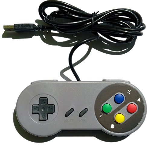 Manette style SNES Retrozone USB, compatible PC, Mac, Raspberry Pi Retropie
