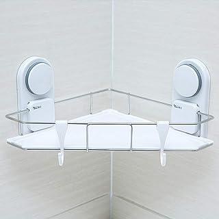 YBQ Support de douche à ventouse à ventouse sans perceuse étagère murale panier de rangement cuisine étagère flottante en ...