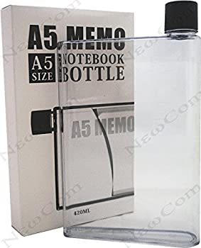 Newcom Portable Stylish Flat BPA-free Drink Bottle/Water Bottle  A5,Clear