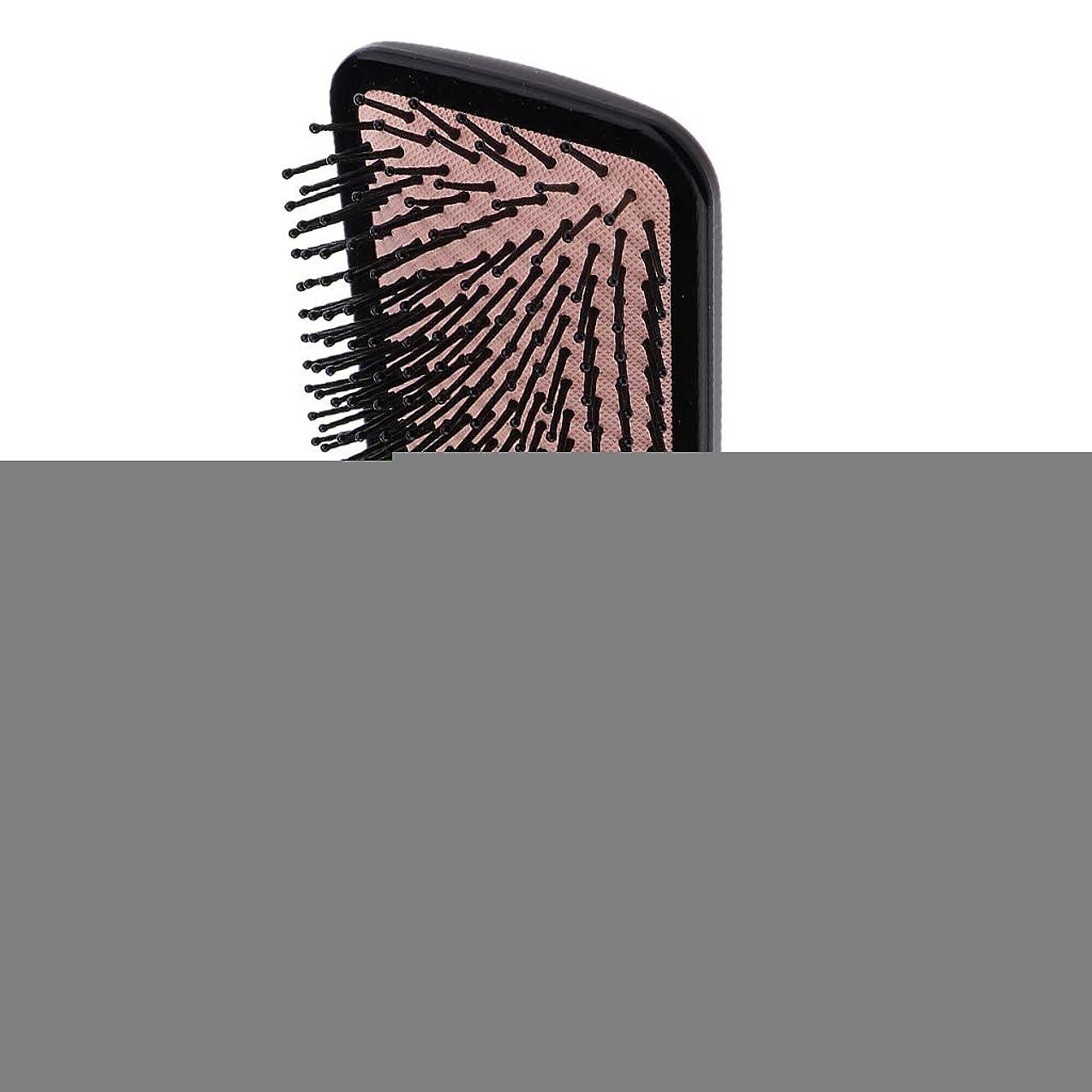同盟持続的編集するPerfeclan ヘアブラシ 櫛 くし 頭皮/肩/顔マッサージコーム 美髪ケア 血行促進 薄毛改善 全2サイズ - スクエア