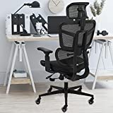 SAMOFU Ergonomic Mesh Office Chairs, High Back Desk Chair with Adjustable Headrest, 5-Year Warranty Executive Chair with 4D Armrest, Adjustable Lumbar Support Computer Chair, BIFMA Passed Task Chairs