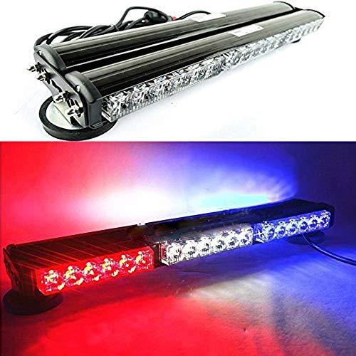 18 pulgadas doble lado 36 LED policía bomberos coche camión baliza flash luz techo magnético adsorbido estroboscópica advertencia emergencia Viper lámpara azul y blanco y rojo