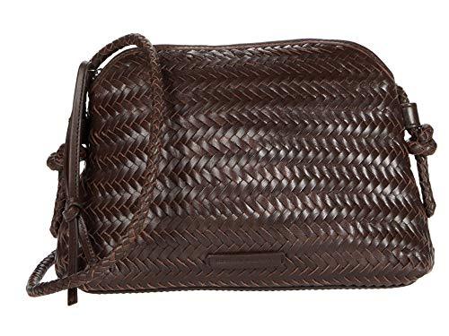 Loeffler Randall Mallory Woven Crossbody Bag Chocolate One Size
