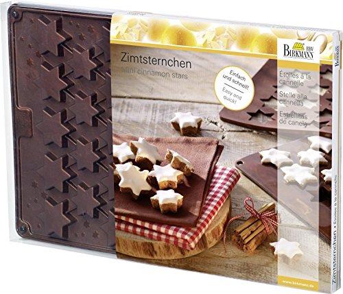Moule teigkarte «zimtsterne avec livret de recettes (26 x 38 cm/silicone-pour 36 zimtsterne)