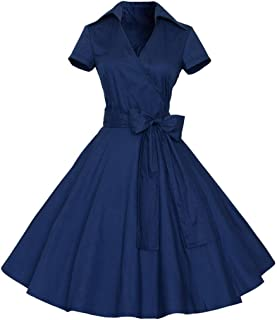 Vintage Sleeveless Retro Swing Cocktail Prom Party Tea Dresses