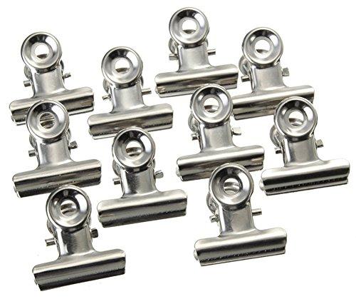 LIANAN IRWIN Edelstahl Verschlussclip Metallclips, Klemmweite 20 mm, 20 Stück metallclips für papier