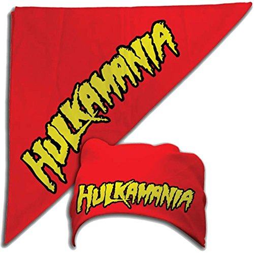 Hulk Hogan Costume Bandana Hulkamania Logo -Red