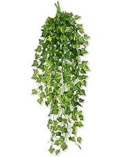 MedianField 【 観葉植物 アイビー 1本 】 壁掛け インテリア アンティーク 雑貨 造花 人工 フェイク 壁掛 グリーン 緑 植物 吊り
