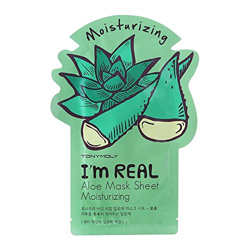 TONYMOLY I'm Real Moisturizing Aloe Mask Sheet, Pack of 1