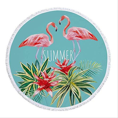 Flor de Borla para Adultos Toalla de Playa Microfibra Picnic