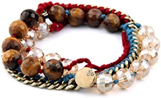 POA Bracelet for Women Adjustable Bohemian Hand-Woven Chain Beads Fashion Personality Retro Elegant Chic Best Anniversary