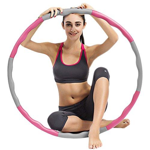 UBEGOOD Hula Hoop, Hula Hoop desmontable Aro de fitness Hula Hoop con...