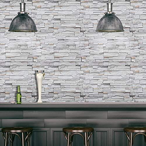 Jidan Los Paneles de Pared 3D Wall Stickers Murales Madera PVC Decoración...
