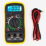 BEVANNJJ ZYY Multímetro Digital Esr Meter probadores Automotive Dmm eléctrico Transistor Pico Tester medidor de capacitancia Meter XL830L (Color : Yellow)