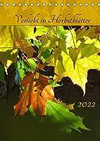 Verliebt in Herbstblaetter (Tischkalender 2022 DIN A5 hoch): Mit froehlichen, warmen Herbst-Farben der Natur entspannt durch das ganze Jahr. (Planer, 14 Seiten )