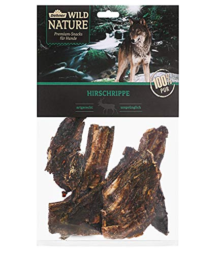 Dehner Wild Nature hondensnack, hertenschrip, 200 g