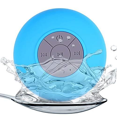Nomvic Impermeable Inalámbrico Altavoz Bluetooth Ducha Impermeable Radio con Ventosa inalambrico Azul Altavoz portatil portatiles Mini Ventosa (Blue)