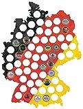 LAUBLUST Bierkarte Holz - Deutschland-Karte Bunt | 63 Fächer, ca. 44x33cm | Kronkorken-Sammler - Lustige Geschenk-Idee