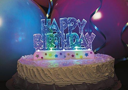 WG Decoraciones de fiesta brillantes en rosa y plata – Edad 30 para tarta iluminada feliz cumpleaños)