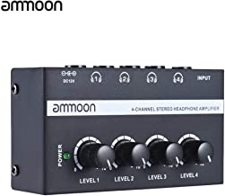 KKmoon HA400 Ultra-compact 4 Channels Mini Audio Stereo Headphone Amplifier with Power Adapter
