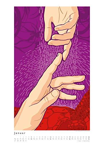 Kat Menschik illustriert Weltliteratur – Literarischer Posterkalender in Bildern 2020 – Wand-Kalender von DUMONT – Format 49,5 x 68,5 cm - 3