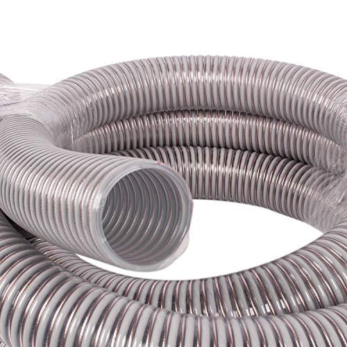 silos24 104160 Pelletschlauch 20 Meter NW 50 mm mit CU-Litze Saugschlauch Rückluftschlauch Förderschlauch, Schlauchlänge:20 m