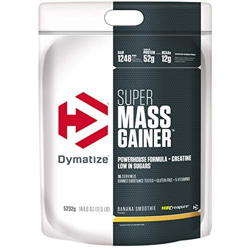 Dymatize Super Mass Gainer Banana Smoothie 5,2kg - Polvo Para Ganar Peso + Carbohidratos, BCAA y Caseína
