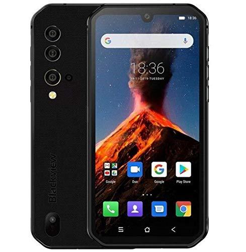 Termocamera Rugged Smartphone (2020) Blackview BV9900 PRO, Helio P90 8GB+128GB, Fotocamera AI 48MP, Cellulare Impermeabile Antiurto IP68, FHD+ 5,84'' Gorilla Glass 5, Ricarica Wireless NFC Nero