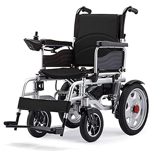RONG HOME Silla de Ruedas eléctrica Plegable Silla de Ruedas Ligera Sillas de Ruedas eléctricas Plegables portátiles Productos para el Cuidado de Ancianos y vehículos de Movilidad para discapacitados