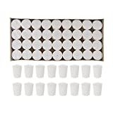 Mega Candles - Unscented 15 Hours Votive Candle - White, Set of 72