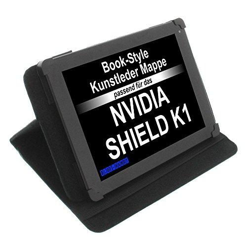 foto-kontor Tasche für Nvidia Shield K1 Book Style Schutz Hülle Buch schwarz