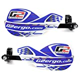 Full Wrap Dirt Bike Handguard by G2 Ergonomics - Renthal Twinwall Handlebar ONLY - White/Blue