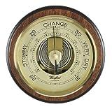 Barómetro tradicional con texto en inglés de madera diseño de beautiful. Mecanismo Perc...