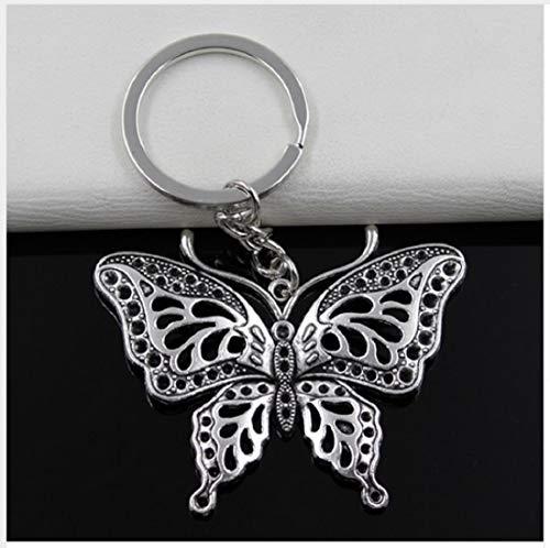 Familienkalender Schmetterling Schlüsselanhänger Metall silberfarben 6cm Insekt, Raupe, Geschenk, Butterfly