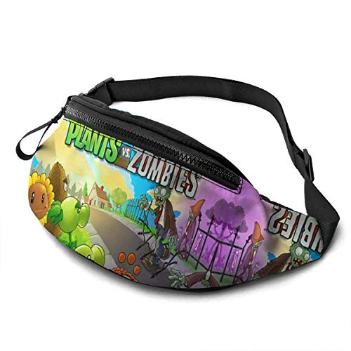 AOOEDM Plants-Vs-Zombies Fanny Pack, Travel Sport Running Waist Pack Bag Casual Super Lightweight Fanny Pack for Men Women