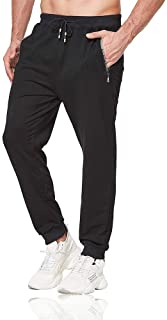 Tansozer Mens Joggers Slim Fit Jogging Bottoms with Zip Pockets