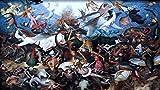 1000 piezas de rompecabezas para adultos: impresiones de la caída de los ángeles rebeldes para adultos, familia, juegos educativos, desafío cerebral