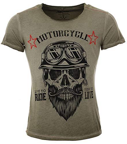 KEY LARGO Herren MT Bearded Biker T-Shirt, mil.Green (1502), XL