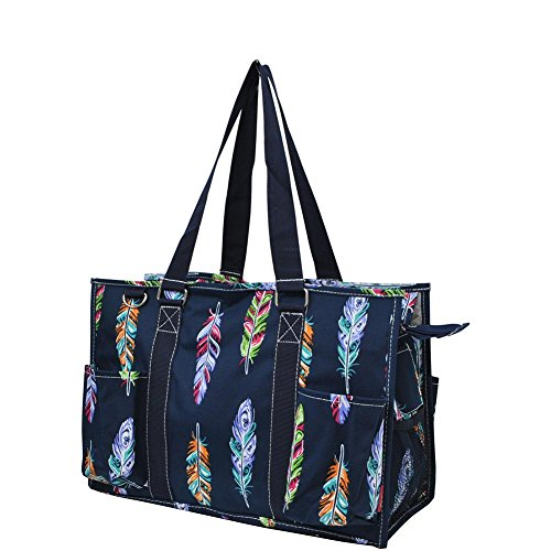 N Gil All Purpose Organizer Medium Utility Tote Bag 2 (Feather Navy Blue)