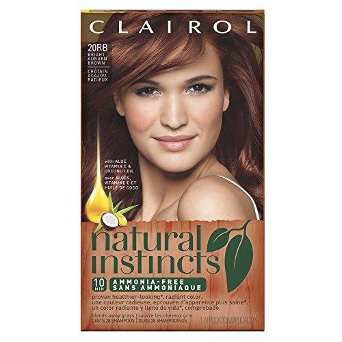 Clairol Natural Instincts 20RB Bright Auburn Brown 1 Kit