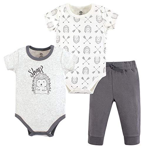 Yoga Sprout Unisex Baby Cotton Layette Set, Hedgehog, 3-6 Months