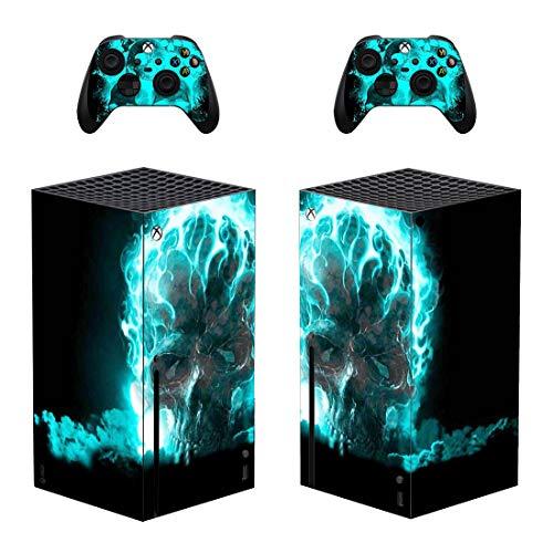 DolDer Skin Sticker/Aufkleber Folie schützende Haut Schale für Xbox Series X Konsole & 2 Dualshock Controller -0399