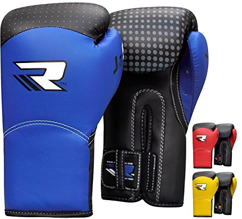 RDX Kids 6oz Maya Hide Leather Boxing Gloves MMA Training Junior Punch Bag Youth Muay Thai Mitts